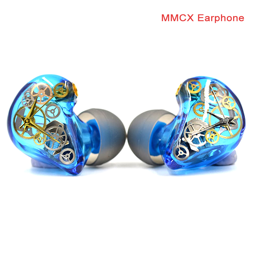 Newest MMCX Earpho Dynamic Drive Unit DIY Customized HIFI Monitor Printing Bluetooth Cable for Shure SE215 SE535 SE846