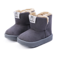 Children Winter Thick Warm Snow Boots Baby Girls Casual Plus Plush Soft Bottom Ankle Boots Shoes