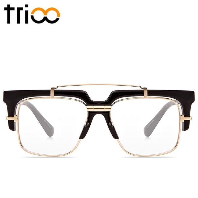 02e594bc54 TRIOO Cool Mens Eyewear Frames With Oiriginal Case Seimi-Rimless Square Glasses  Men High Fashion Clear Lens Optical frame