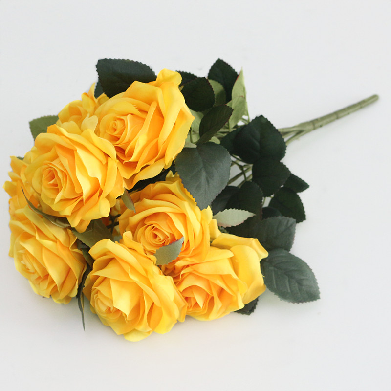 Artificial silk 1 Bunch French Rose Floral Bouquet Fake Flower Arrange Table Daisy Wedding Home Decor Party accessory Flores (7)