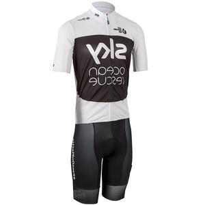 bib shorts 2018 PODIO Pro Team cycling KIT Marine rescue short sleeve Jersey 05646bc88
