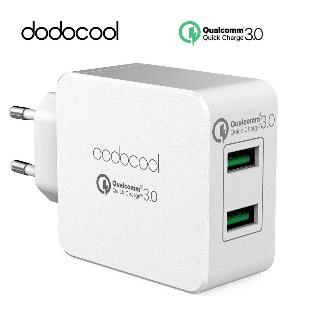 Dodocool Rapide Chargeur Charge Rapide Double QC 3.0 USB Téléphone Universel Mur Chargeur de Voyage Pour Samsung galaxy S8 Pour Xiaomi redmi 5