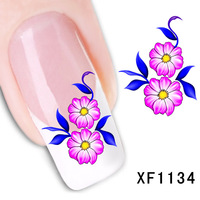 2017 Limited Hot Sale Manicure 2 Sheet Nail Stickers Flower Simulation Watermark Affixed To The Tube Row Of Pens A Month Xf1134