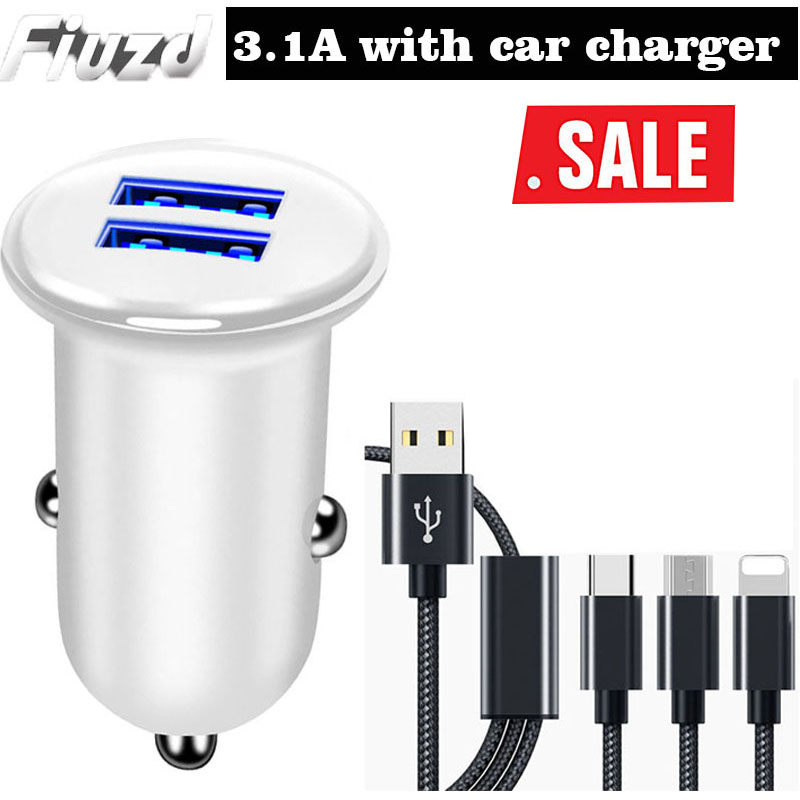 Fiuzd mini Dual USB Car Charger for Samsung s20 S10 S9 S8 phone charger for Huawei p30 p20 p10 pro lite fast charger for mi9 t in Car Chargers from Cellphones Telecommunications