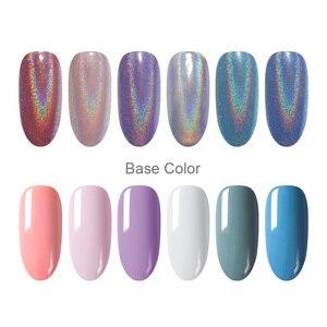 Image 4 - 0.5g glitter per unghie Laser olografici arcobaleno Nail Art polvere punta per unghie cromo polvere decorazioni per Nail Art