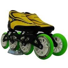 ZODOR Инлайн конькобежный спорт powerslide высокая прочность Стекло волокно профессионального конкурса коньки 4 колеса Racing катание Patines