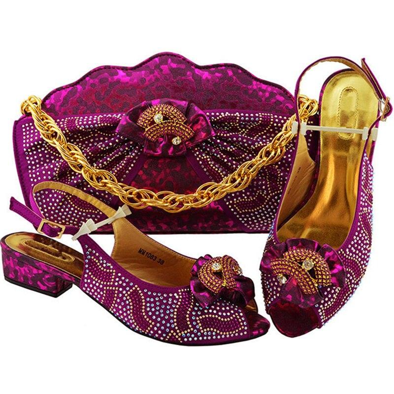 Magenta Royal Et Sac or peach sliver Designer Ensemble Chaussures Sacs noir teal Femmes Parti pourpre Strass Ensembles Nigérien Italien Assortis Les Décoré Avec bleu F1KJcuTl3