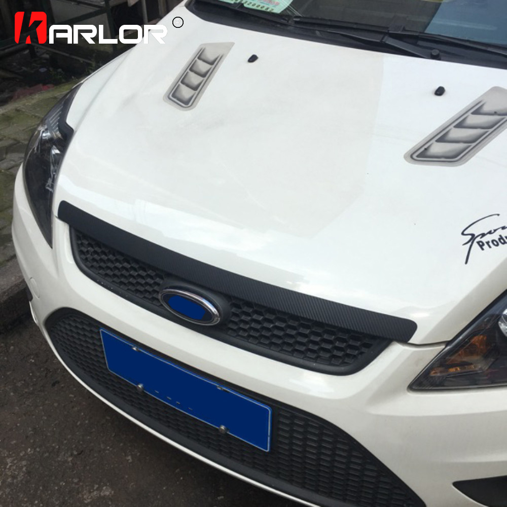 Carbon Fiber Grille Rear Bumper Protection Film Car Stickers And Decals Car-styling For For Focus MK2 Accessories