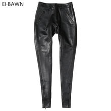 564d7d44784ffc Genuine Leather Pants Women High Waist Black Pants Ladies Sheepskin Autumn  Winter Plus Size Streetwear Skinny Leather Pants 2019