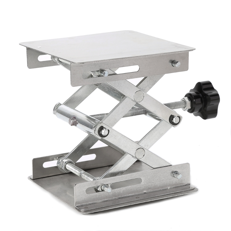 4x4 Scientific Lab Jack Stainless Steel Lifting Platform Stand Rack Scissor Lifter lab jack laboratory support jacks 200x200x280mm stainess steel painting lifting table raising platform 8 inch export to europe