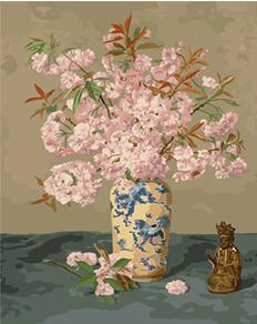Us 238 Mahuaf W012 Japanischen Kirschblüten Malen Nach Zahlen Leinwand Malerei Mit Acrylfarben Für Wohnzimmer Wohnkultur In Mahuaf W012