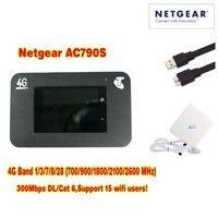 Débloqué netger AC790S cat6 300 mbps 4g wifi routeur dongle Sans Fil Aircard 790 S 4G LTE mobile Hotspot + 4g antenne