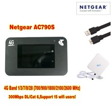 unlocked netger AC790S cat6 300mbps 4g wifi router dongle Wireless Aircard 790S 4G LTE mobile Hotspot+4g antenna