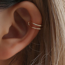 Fashion 1 pair 3 style Punk Rock Ear Clip Cuff Wrap Earrings No piercing-Clip Hollow Out U Pattern Statement jewelry 2019 women s fashion rhinestone inlaid hollow out u style ear bone clip golden siilver
