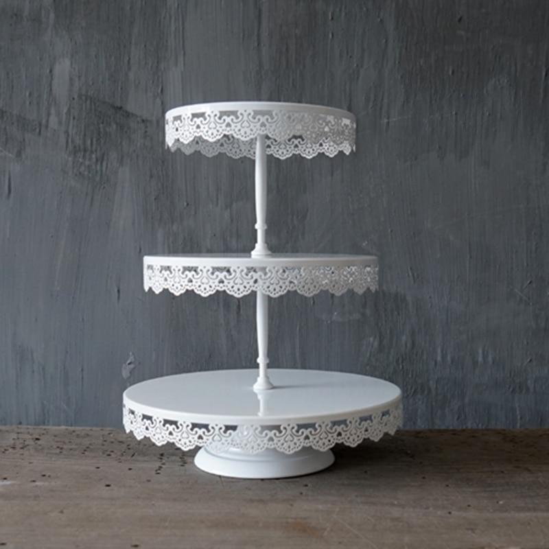 SWEETGO 2/3 nivele kupa e dasmës, tortë për dekor, tortë për - Kuzhinë, ngrënie dhe bar - Foto 4