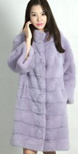 genuine mink fur coat woman 2016 winter woman fashion real mink fur coat 90cm length mink