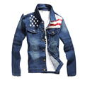 Men Denim Jackets Patchwork Design Zipper Sleeve Casual Autumn Jean Jacket Coat Slim Fit Brand Parka Quality Jaqueta Outwear 3XL
