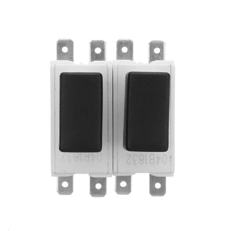 2 pièces KEDU HY58-2 16/19A 250/127 V 4 PinsElectric Power Tool bouton poussoir anti-poussière verrouillage bouton de déclenchement interrupteur avec frein