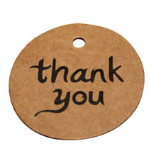 100 Pcs/lot Kraft Paper Wedding Thank You Tag For Candy Gift Box Decoracion Vintage Wedding Supplies Wedding Gifts For Guests(China)