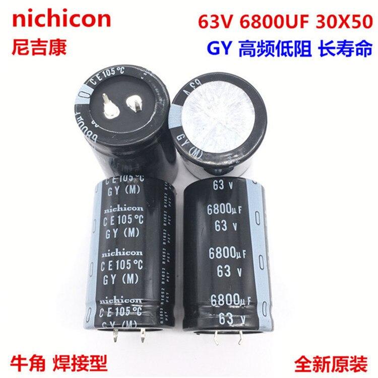 2PCS/10PCS 6800uf 63v Nichicon GY 30x50mm 63V6800uF Snap-in PSU Capacitor