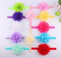 Girls Chiffon Flower Headband Newborn Girls Flower Headbands 16Colors 100Pcs/lot