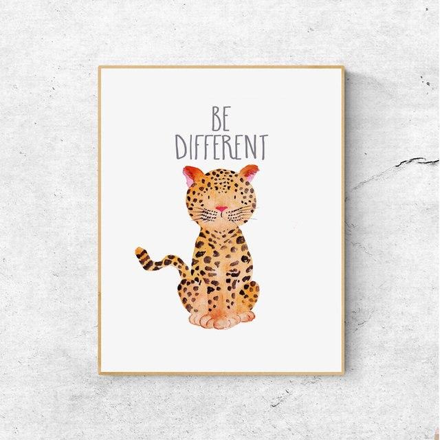 Be Different Safari Nursery Art Jungle Animals Jungle Safari Art ...