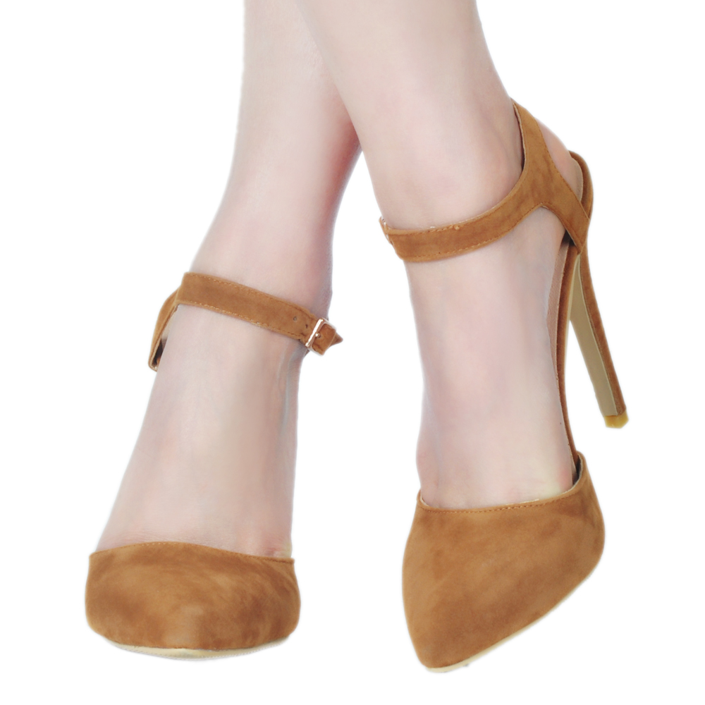 Estrecha Tamaño Mujeres Zapatos Sandalias Punta 2018 Ee Mujer Ef0934 Intención Estilo Más 4 Altos Delgada Elegante Original uu 15 Tacones Camello 4xqw7T0