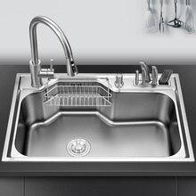 Zlewozmywak nad blatem lub zlewami udermount mycie warzyw umywalka ze stali nierdzewnej pojedyncza miska 1.2mm grubości zlewozmywaki kuchenne