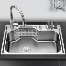 อ่างล้างจานเคาน์เตอร์หรือ udermount ครีบผักอ่างล้างหน้าชามเดี่ยวสแตนเลส 1.2 มม.ความหนาครีบห้องครัว