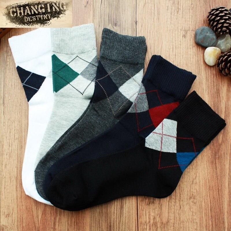 Мужчины Носки Повседневная Бизнес Хлопчатобумажные Носки Высокого Качества Дышащие Длинные Носки Мужской
