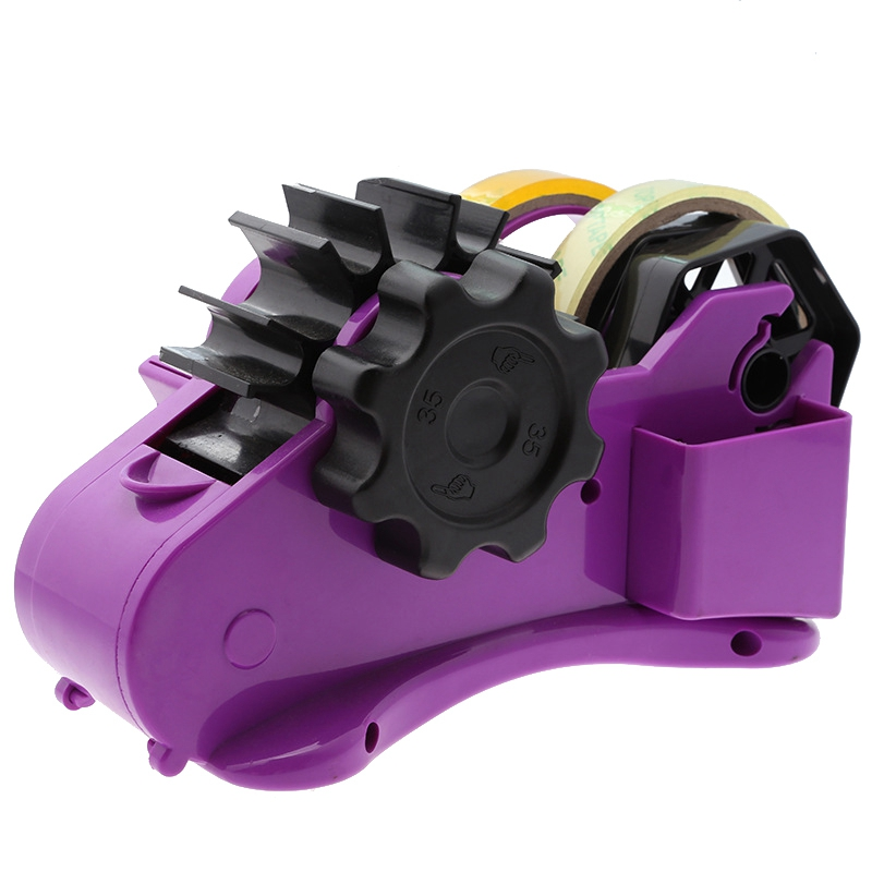 Semi-Automatic Tape Dispenser With 35Mm Fixed Length Tape Cutter Desktop Office Packaging Household Tools