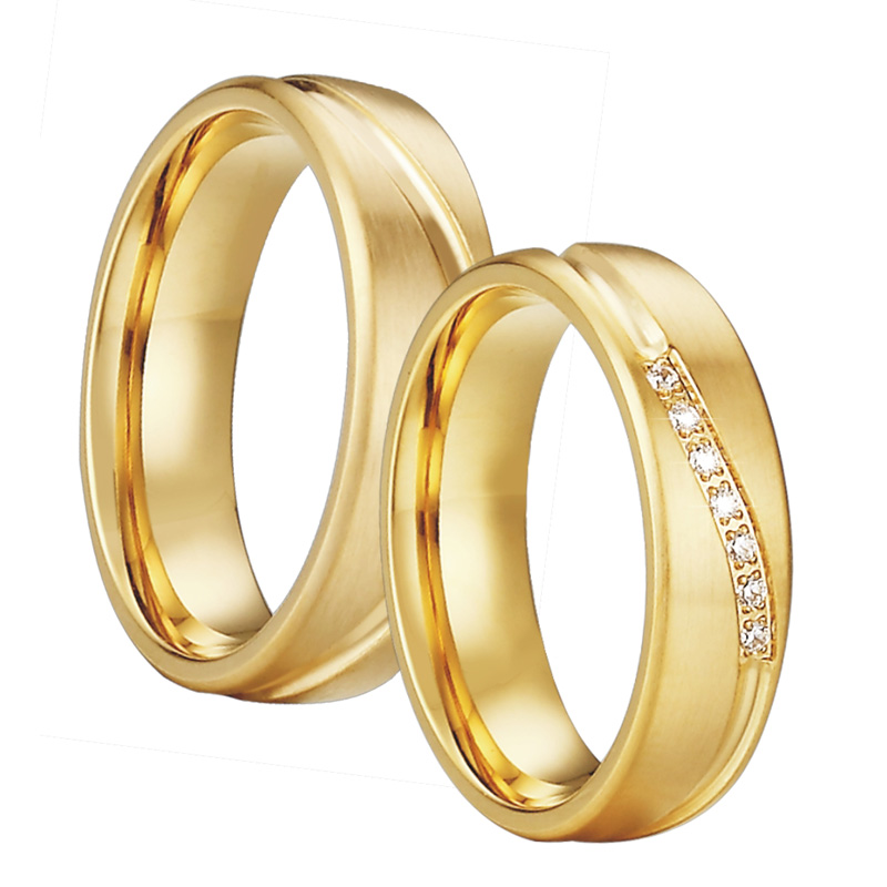 Wedding Rings For Men.Us 2 59 48 Off Gold Color Wedding Band Couple Rings Men Alliance Anel Anillos Bague Eheringe Jewelry Engagement Rings For Women In Wedding Bands