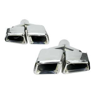 Image 2 - New For Mercedes Benz 2011 2013 ML W166 GL X166 exhaust Muffler Tip 304 Stainless Steel Pipe YC101020