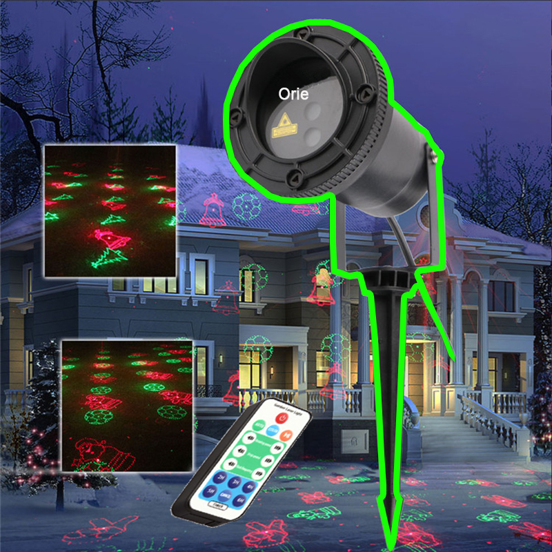 цена Christmas Light Outdoor Garden Mini Projector Laser 12 Patterns Waterproof Wedding decoration Laser lighting Red Green