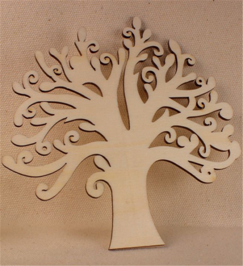 Diy Wooden Tree Household Wall Decorations Crafts Shape Handmade