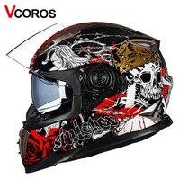 Nova completa rosto capacete de moto rcycle twin sistema de escudo com quick curvatura liberada rrad moto moto capacetes M L XL tamanho capacetes DOT