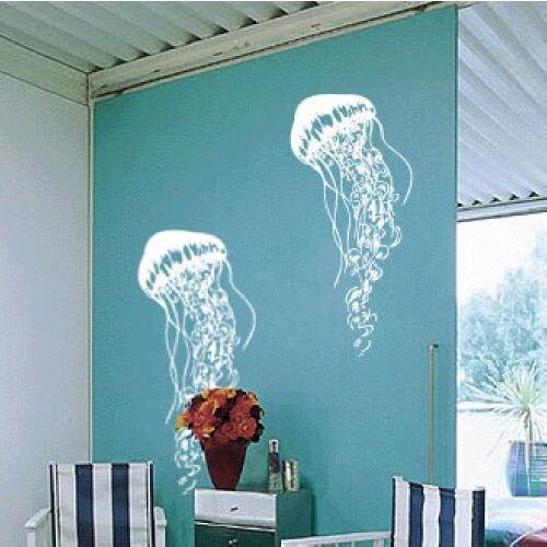 JELLYFISH Vinyl Wall Art Decal Sticker Ocean Theme 2pcs 30x14inch-in ...