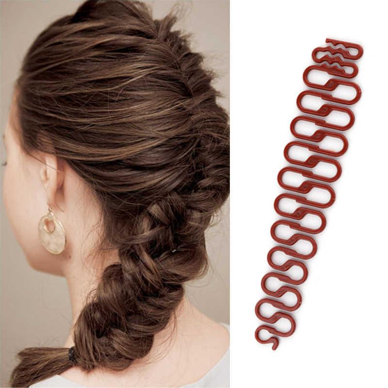 Волшебный инструмент для плетения волос, хит продаж, женские 3 вида цветов, заколки для волос, аксессуары для укладки волос