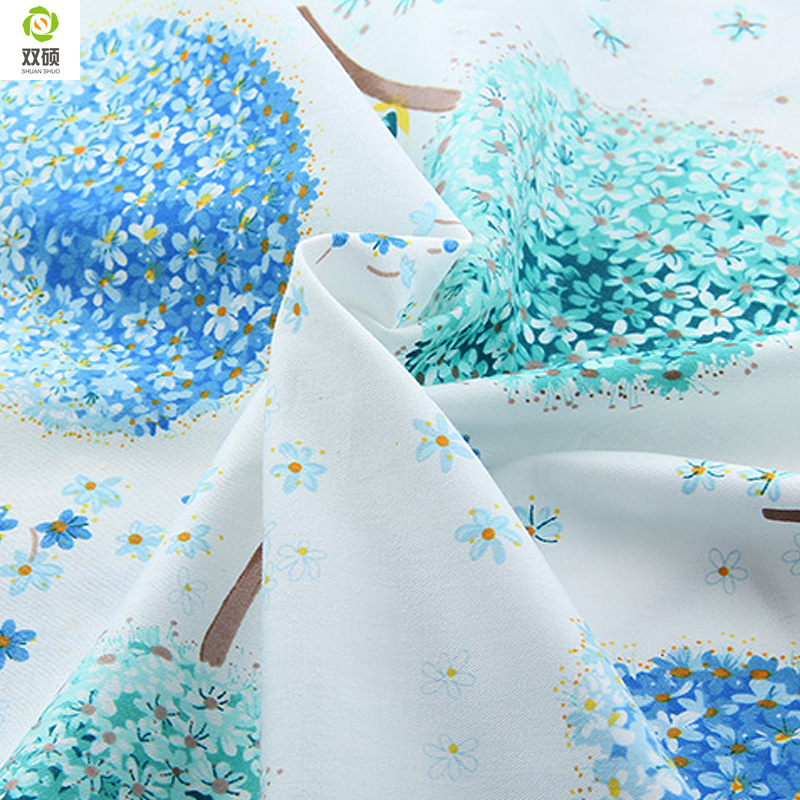 Blauwe paardebloem stijl katoenen stof huishoudtextiel tissu naaien telas patchwork doek quilten tilda stof 160 * 50cm