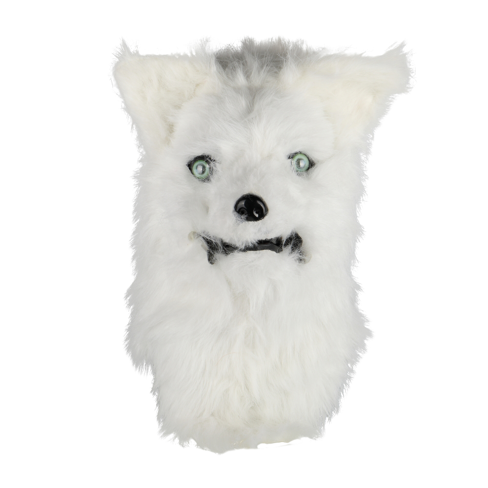 Cosplay Latex Mask Carnival Prop Costume Masks Adult Animal White Dog Mask Can Open Mouth Cosplay Halloween Party
