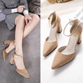 The spring and summer of 2016 High Heels Sandals sandals high-heeled shoes rough side empty hollow shoes