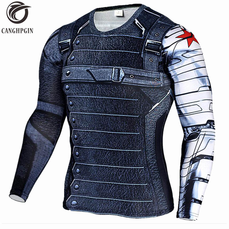 Winter Soldier 3D Printed Sport Shirt Men Running Shirts Fitness Tights Men Cycling Quick Dry Rashguard MMA Compression Tops Winter Soldier 3D Printed Sport Shirt Men Running Shirts Fitness Tights Men Cycling Quick Dry Rashguard MMA Compression Tops
