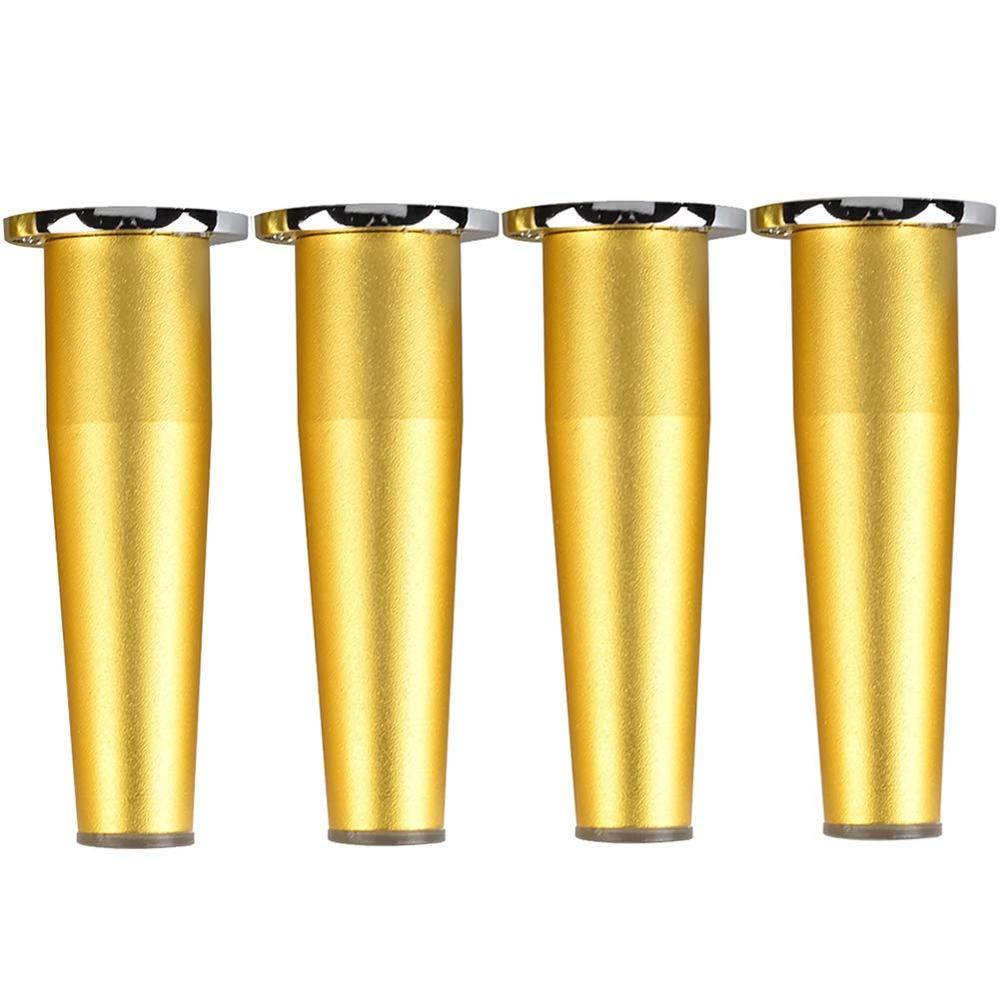 4Pcs 8~20cm Metal Furniture Legs, Adjustable Table Legs Cone Support Legs Suitable For Sofa Coffee Table Bathroom Cabinets Gold