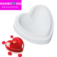 1PCS Non Stick Silicone Love Heart Shape Cake Mold Amore Baking Pastry Molds Chocolate Jelly Mousse