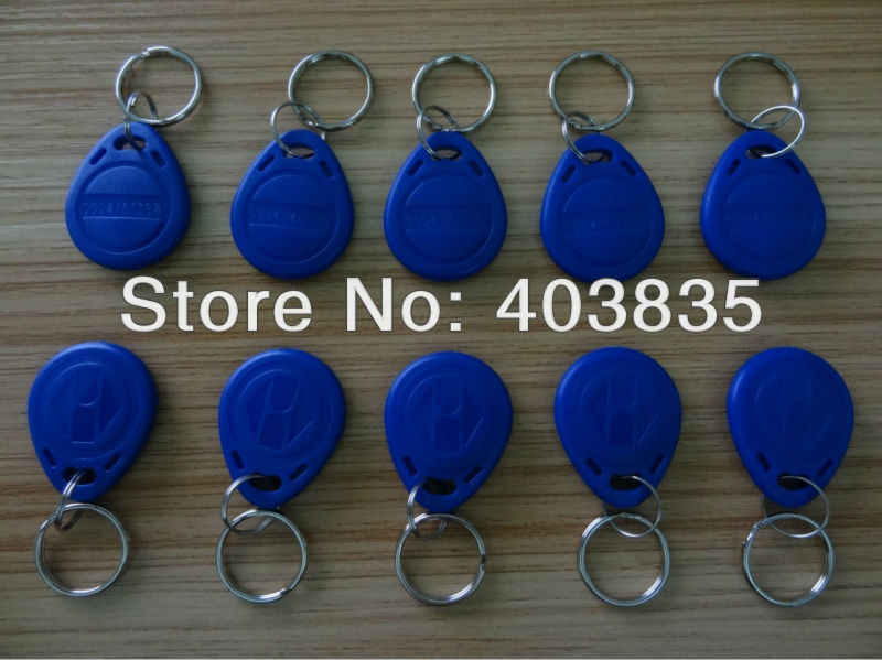 Access Control Card RFID ID Tag 100pcs125Khz RFID Proximity Keyfobs Ring  Door Entry Access Control