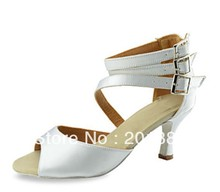 Wholesale Ladies White Wedding Bridal Dance Shoes Latin Ballroom Shoes Salsa Dance Shoes Cha Cha Shoes Size 35,36,37,38,39,40,41