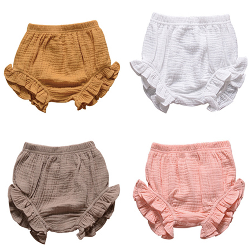 0-3Y Toddler Girl Bread Pants Infant Big PP Shorts Kid Boy Cotton Bedding Bloomers Baby Clothing Summer Bottoms Playsuit Clothes