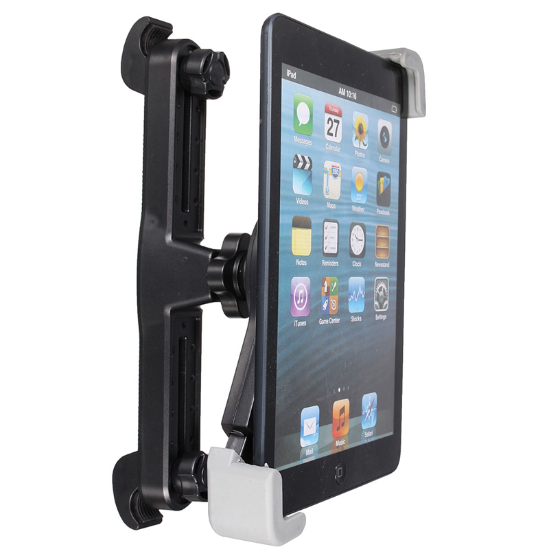 цена на Newest 360 Degree Universal Car Back Seat Headrest Tablet Mount Holder For iPad 4 Mini 3 Air 2 For Samsung Tablet Holder Stand