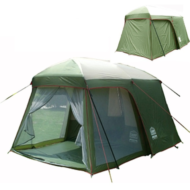 5-8 person large family tent c&ing tent sun shelter gazebo beach tent 1 room  sc 1 st  AliExpress.com & 5 8 person large family tent camping tent sun shelter gazebo beach ...