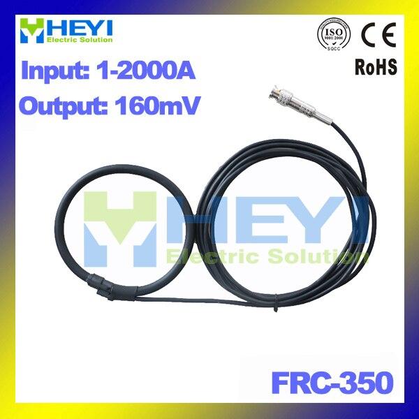 black yellow red Rocp CT flexible rogowski coil FRC-350 input 1-2000A rogowski sensor with BNC Connector frc 210 input 1 1000a output 38mv with bnc connector inner diameter 60mm flexible rogowski coil